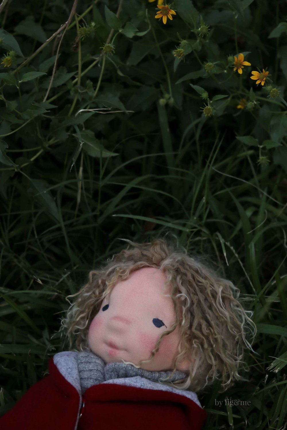 Amos, a natural fiber art doll by Fig and Me.