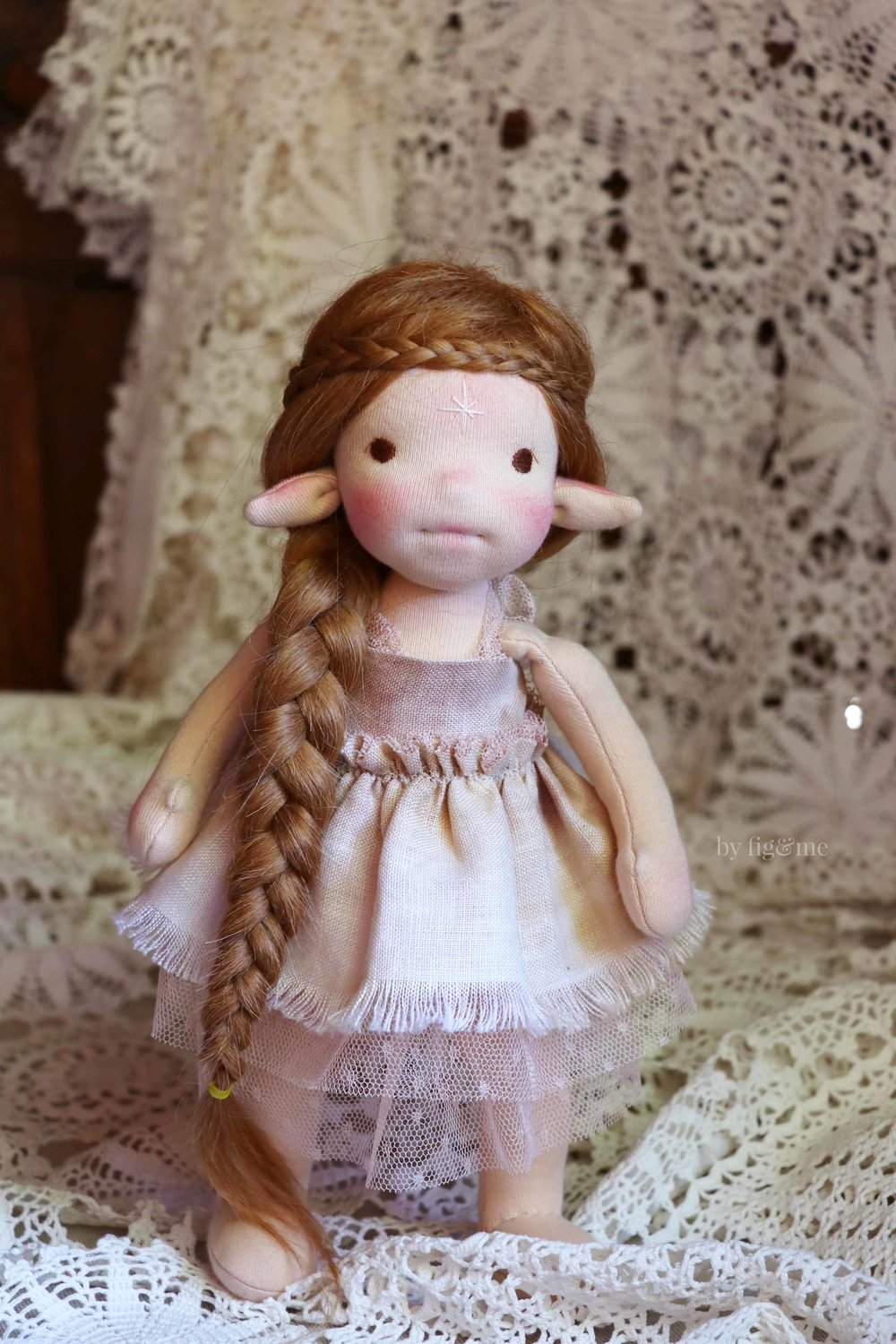 Take an online doll making class with Fig and me and learn how to make this magical creature.