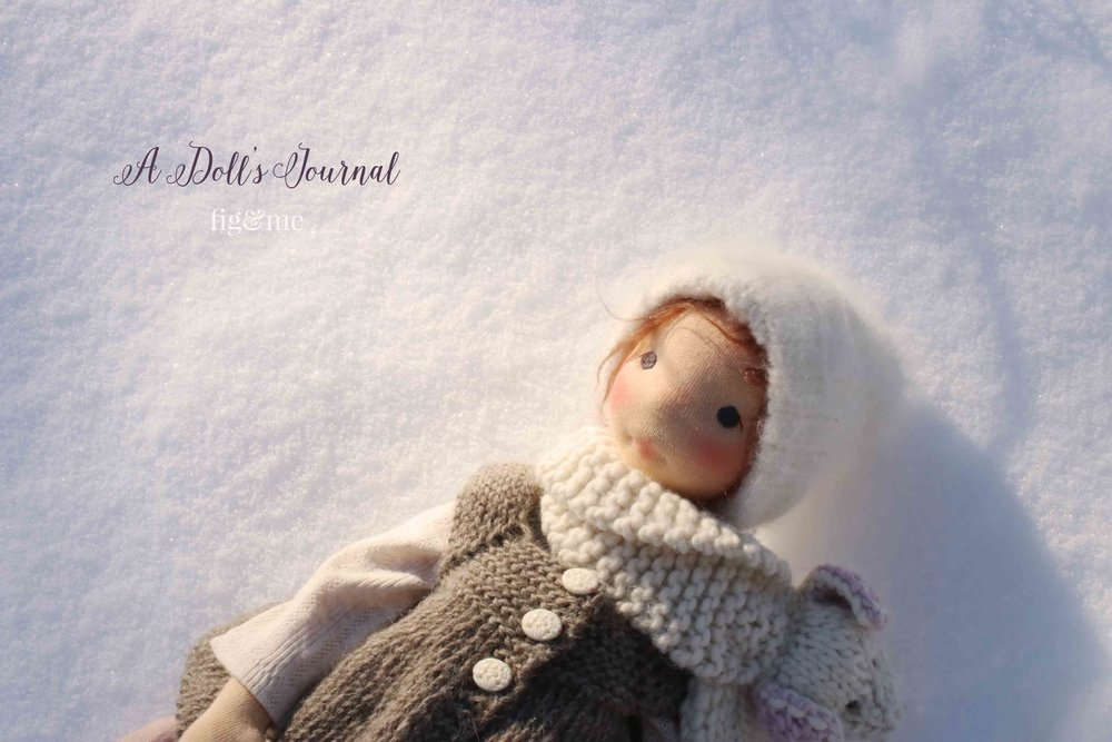 A doll's journal. The story of Poet as she goes through the year. By Fig and me.