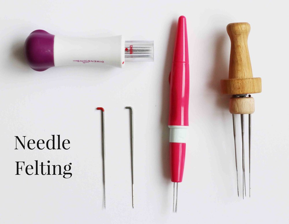 Needle felting tools to make natural fiber art dolls, via Fig and Me