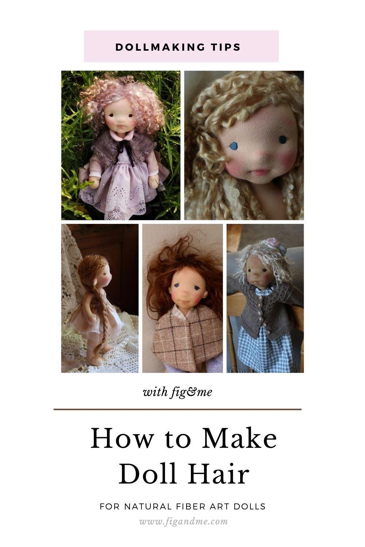 dollmaking tips how to make doll hair fig me. Black Bedroom Furniture Sets. Home Design Ideas