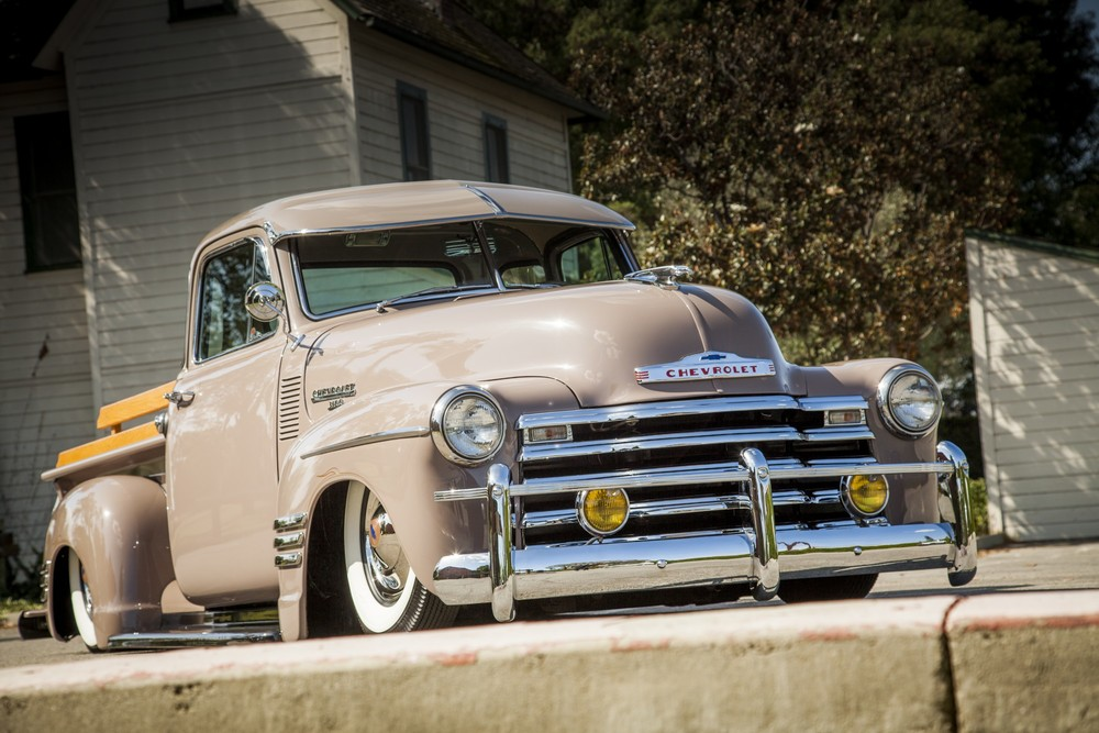 Love the bomb look of this old school Chevy Pickup.  Very Cool.