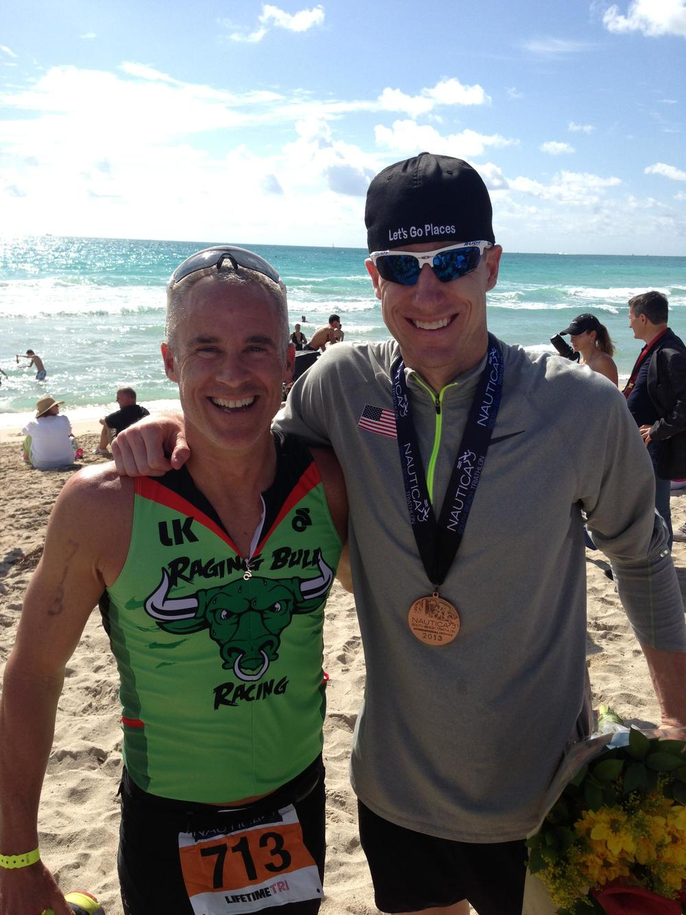 Fitzhugh and Hunter Kemper at the Nautica Triathlon