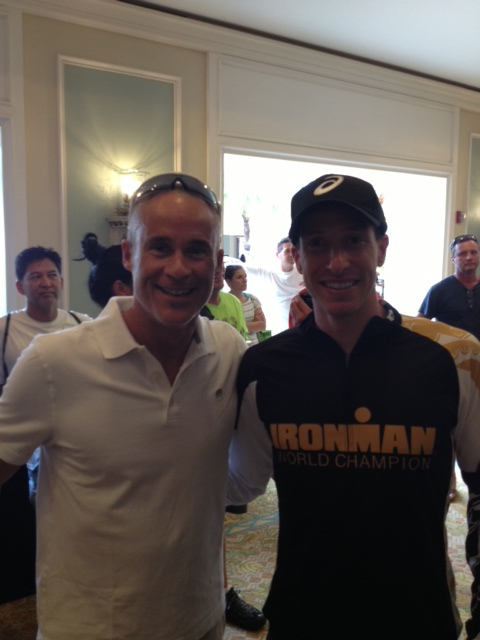 Jason Fitzhugh and Ironman World Champion Pete Jacobs.
