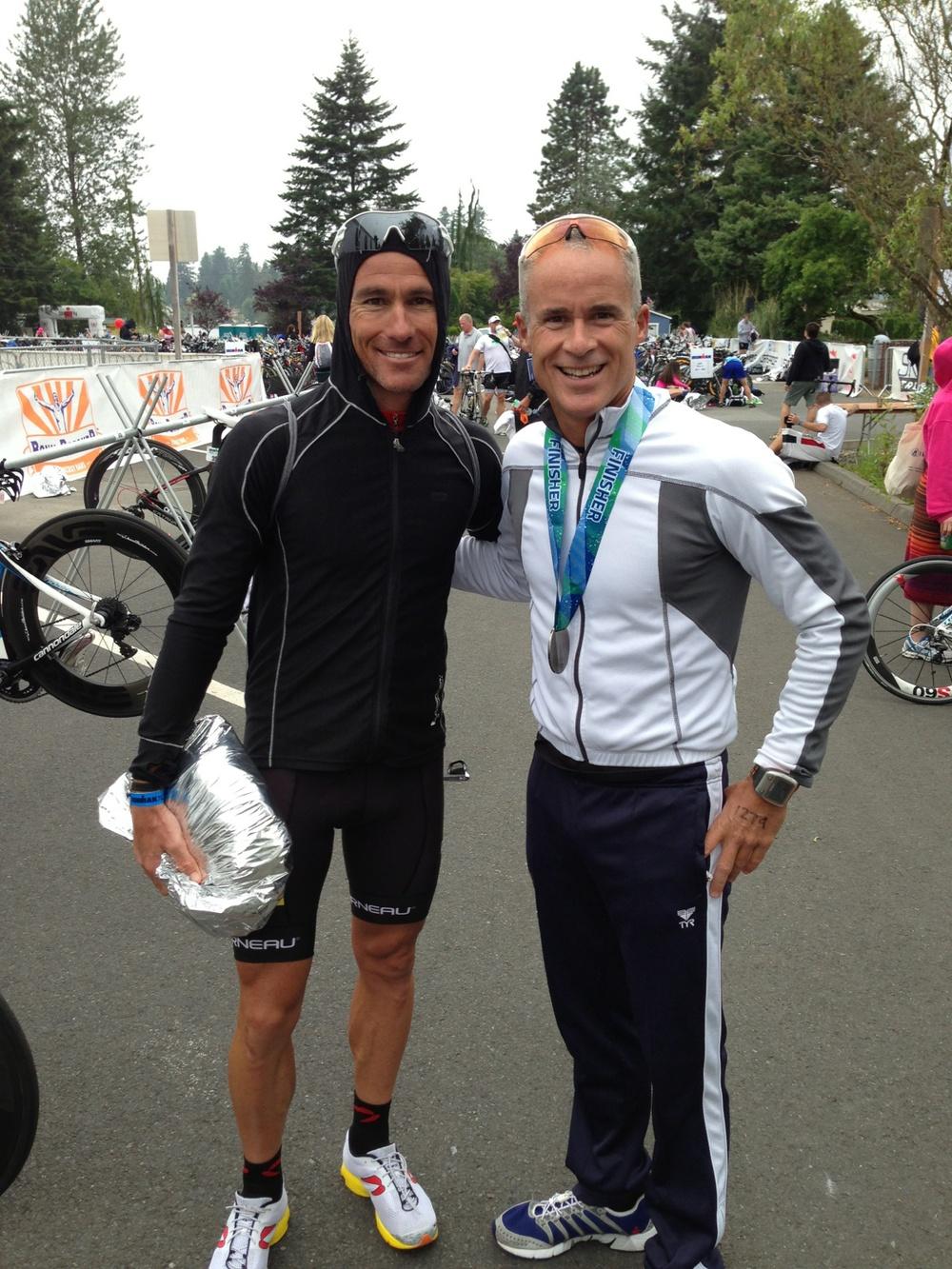 Jason Fitzhugh with World Champion Craig Alexander