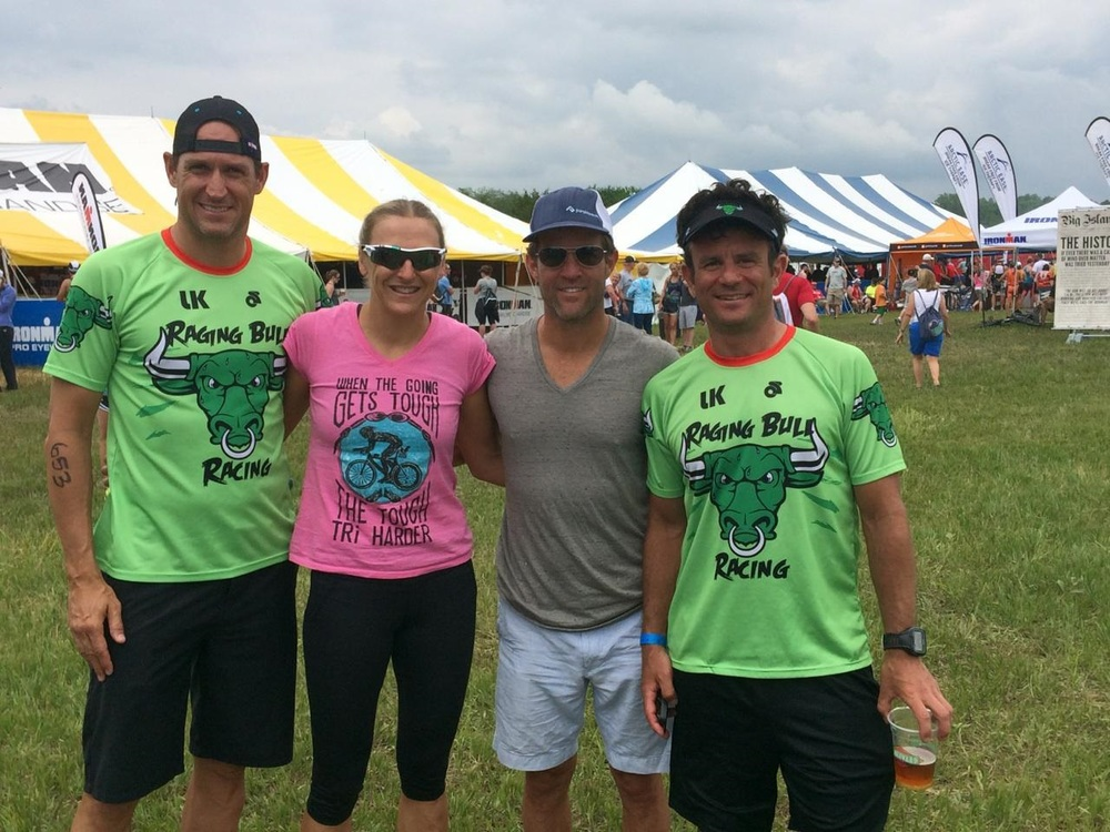 Jim Myers, Ironnman Pro  Laura Siddall  of Great Britain, Mike Malfer and Steve Cosentino