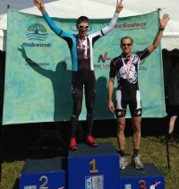 Doug Campbell on the Podium at the Kansas State Cyclocross Championships