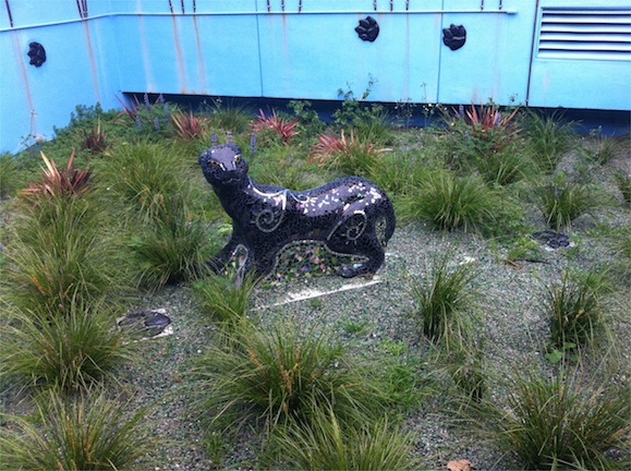 Panther created with students at Edna Brewer last year!