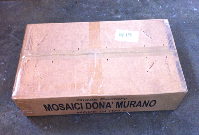 Box straight from Italy arrived at my door. yahoo!