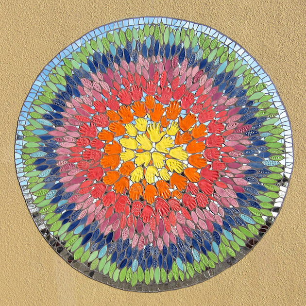 Parchester Community Center, Richmond, CA. Tiles created by community participants