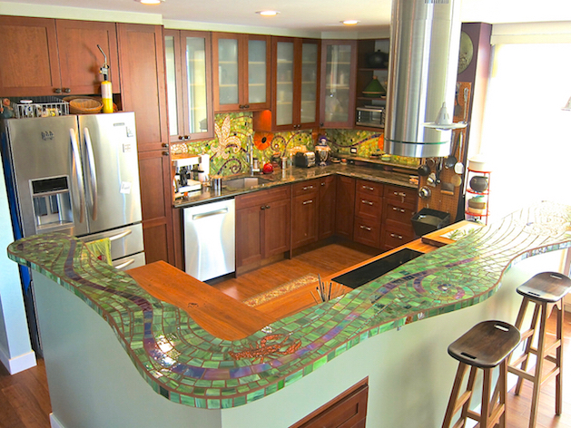Nola Backsplash & Island Top