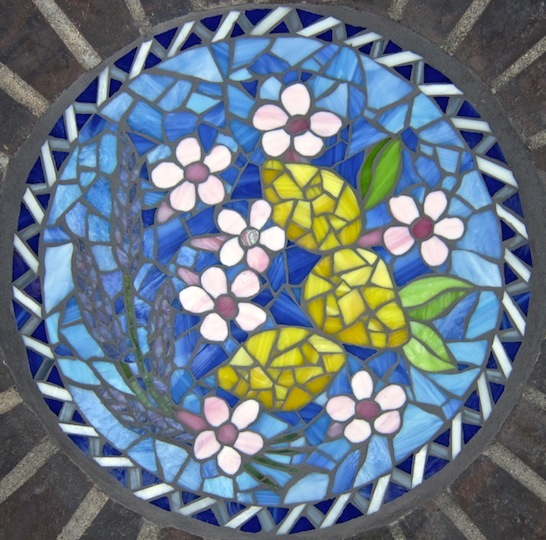 "15"" Glass garden inset"