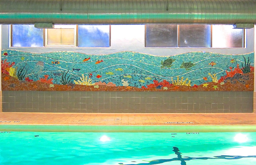 """Poolside Dreams"", UCSF Medical Center, San Francisco"
