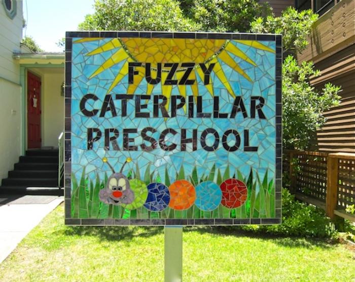 For Fuzzy Caterpillar Preschool, Alameda, CA - Client designed