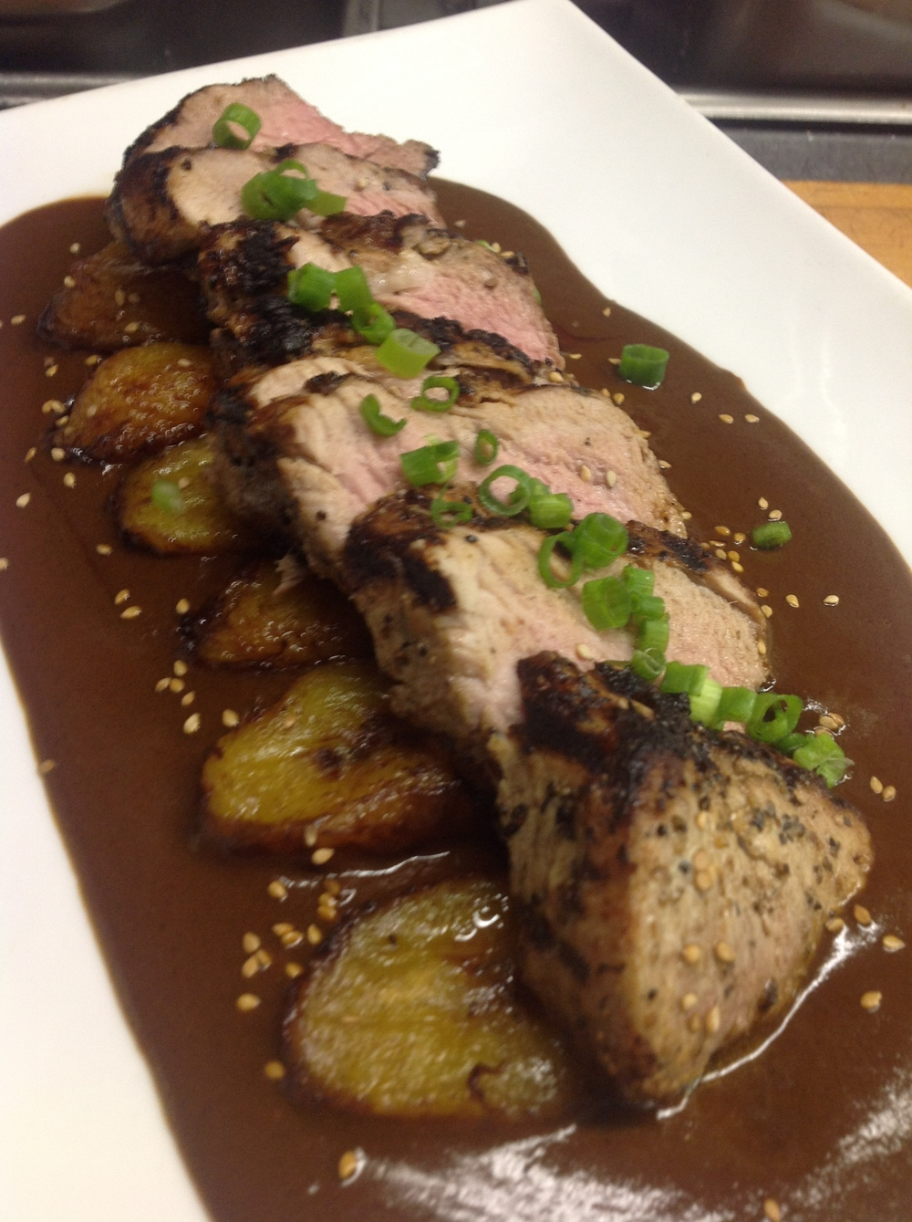 Pork Tenderloin in Mole Poblano