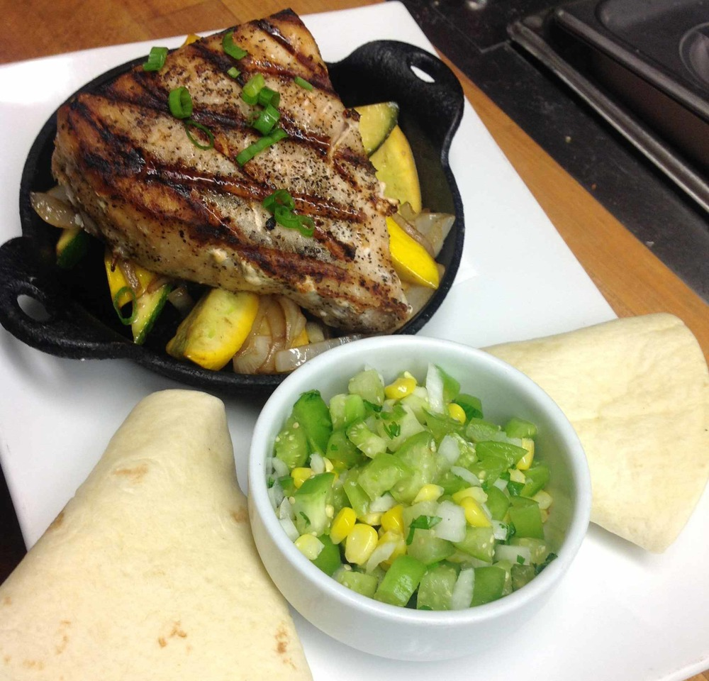 Grilled Swordfish Fajita
