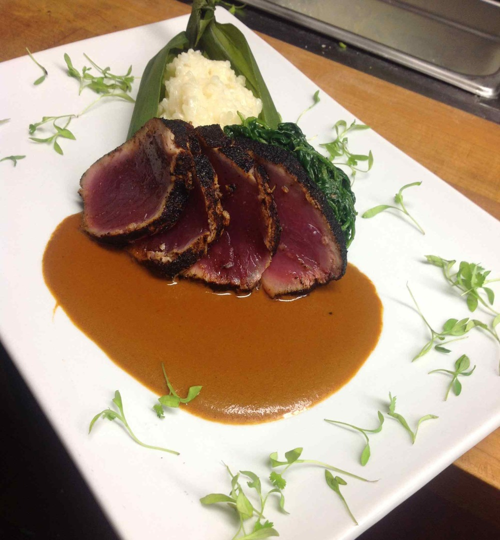 Pasilla Chile Crusted Tuna