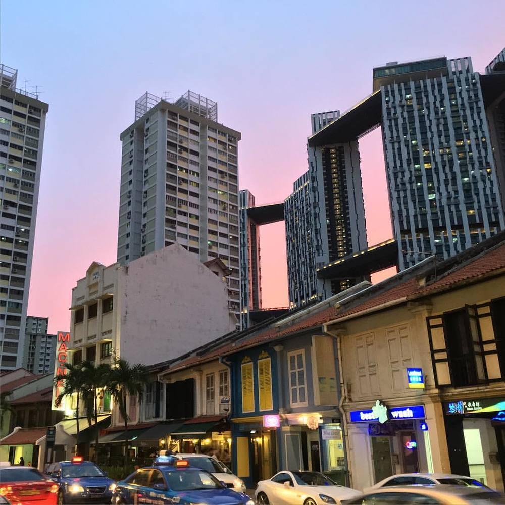 Beautiful sunset in Singapore last night