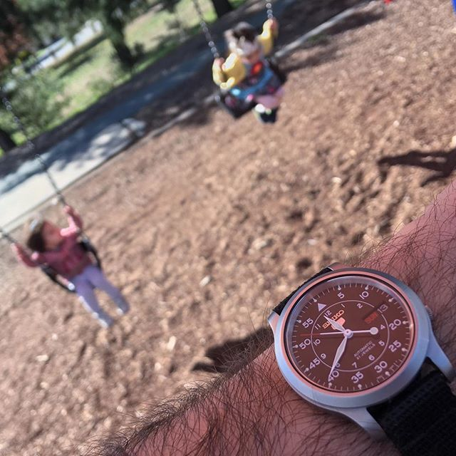 Playground time on #RedSeikoSunday #WatchContent