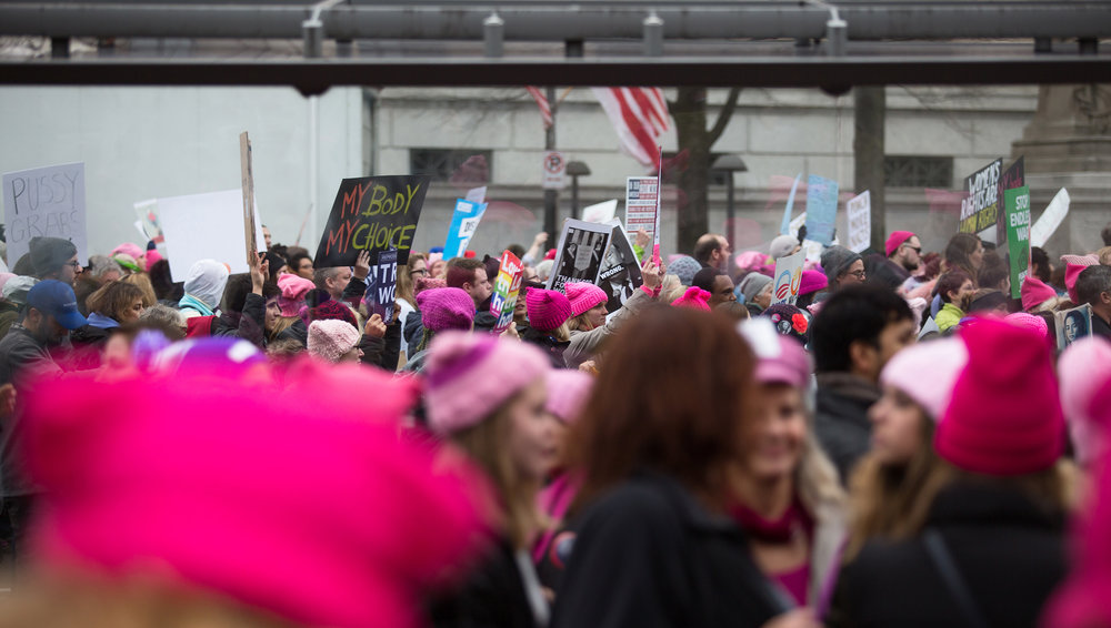 Thousands marched along Pennsylvania Avenue in Washington D.C. during the 2017 Women's March.