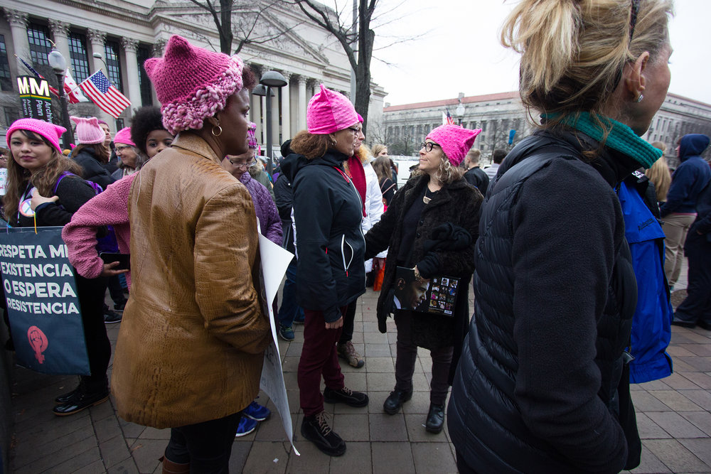 Attendees of the 2017 Women's March in Washington D.C.