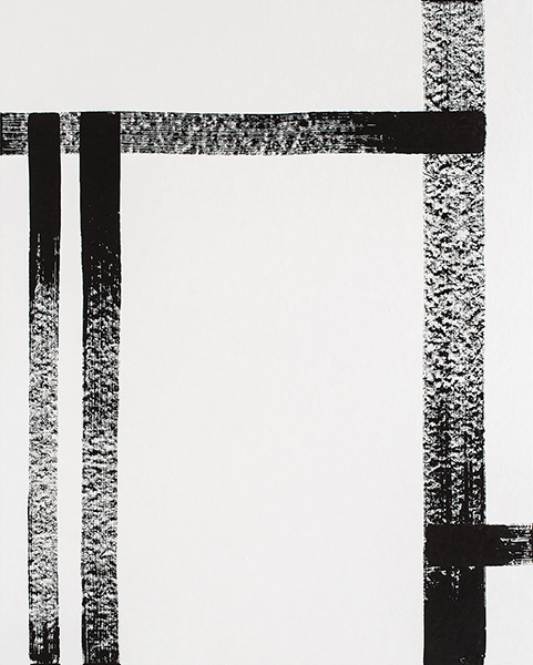 Study of Line No.02    Sumi-ink Drawing on Rice paper  120x150 (cm)  2015