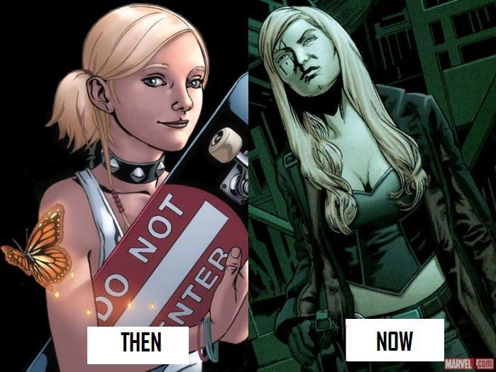 How Layla used to look at left v. how she looks now. So...different is I guess what I'm driving at here. (images from Panelsonpages.com and Marvel.com, respectively).