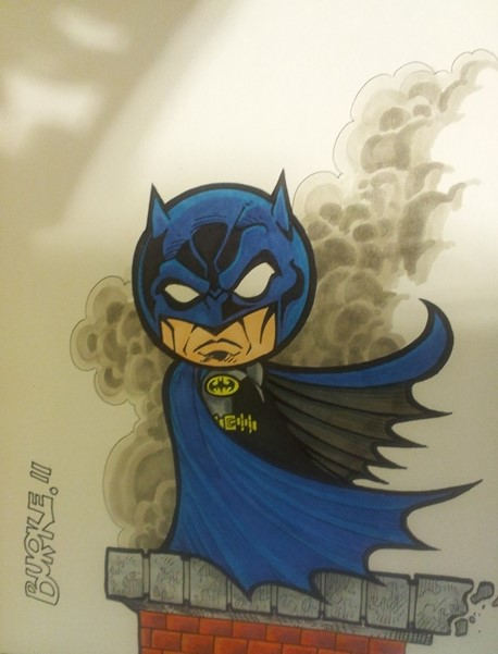 Bubbleheaded Batman Artist: Burke