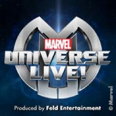 Marvel Universe LIVE!, a live action-adventure show, in co-op with Ringling Bros. (image from marveluniverselive.com)