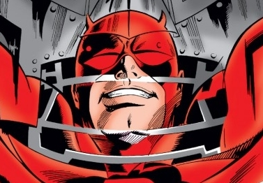 Daredevil seems super psyched to be checking himself in Doom's mask. I wonder why...(hint, hint). (image from manwithoutfear.com)