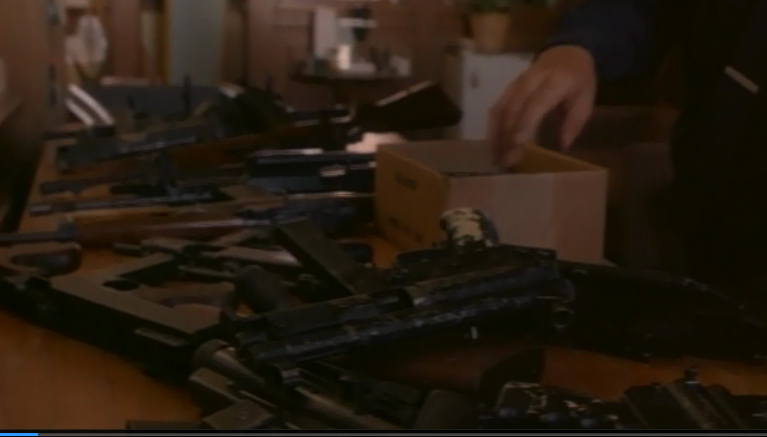 All these guns, looked over by two cops in an unlocked building. Makes perfect sense. Who could've anticipated it going so wrong?