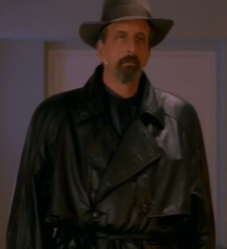 Don't get me wrong, he wears it well. But the double breasted leather trenchcoat is rarely a good call.