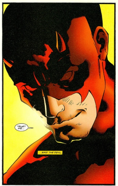 Daredevil as drawn by Cary Nord in DAREDEVIL Vol. 1 (image from comicbookschool.com)