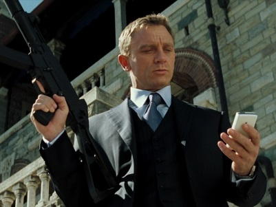 Daniel Craig: The Best Bond at Multitasking (photo from suitsofjamesbond.com)