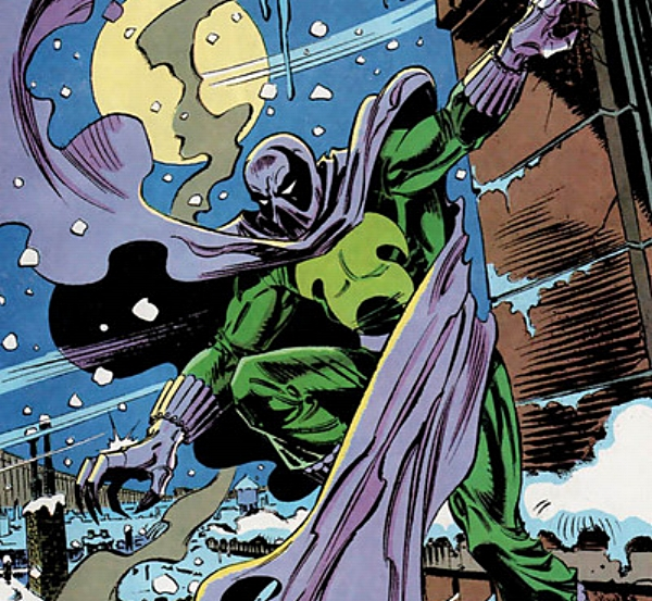 That does not look like a warm enough costume for that weather, Prowler. You'll catch your death out there. (comicvine.com)