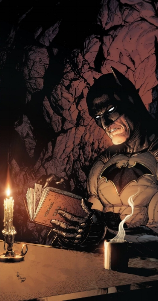 Batman here is doing what I won't be doing with DOOMSDAY CLOCK. (westfieldcomics.com)