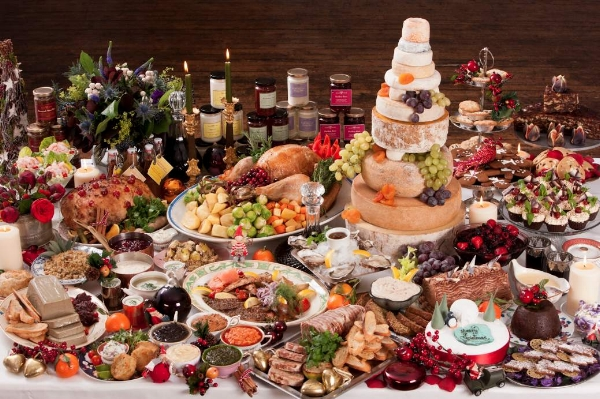 If your Christmas meal looks anything like this in arrangement, size, or scope, you are a monster and must be stopped. (goalmap.com)