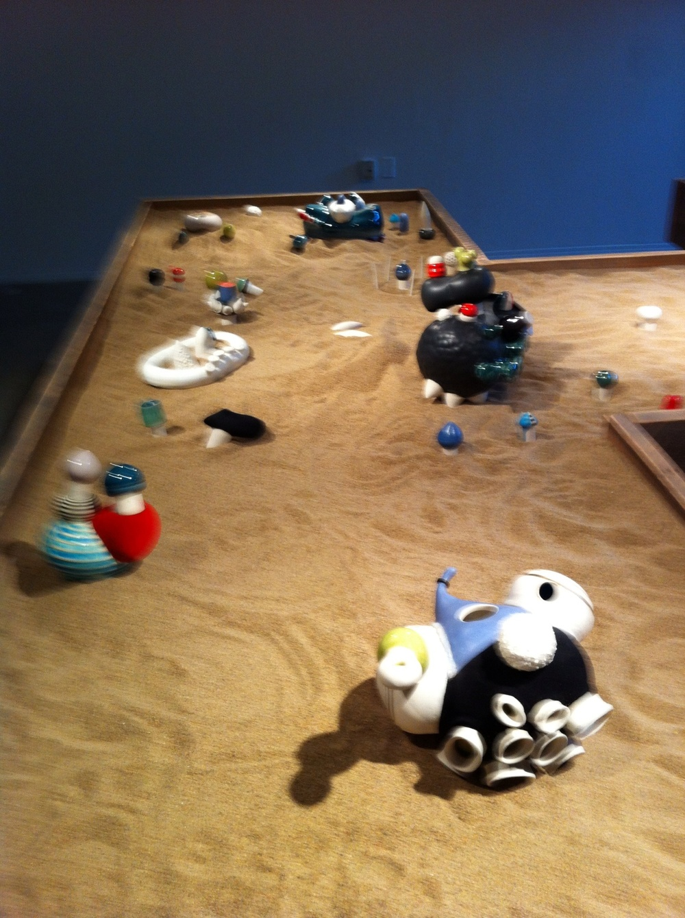"Jocelyn Reid's ""sandbox"" installation at Marion Nicoll Gallery at Alberta College of Art & Design"
