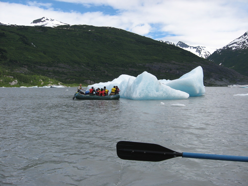 Rafting amongst the ice bergs was one of my most memorable experiences. It was so silent, not birds, no bugs, the dripping of the ice - it was a surreal moment!