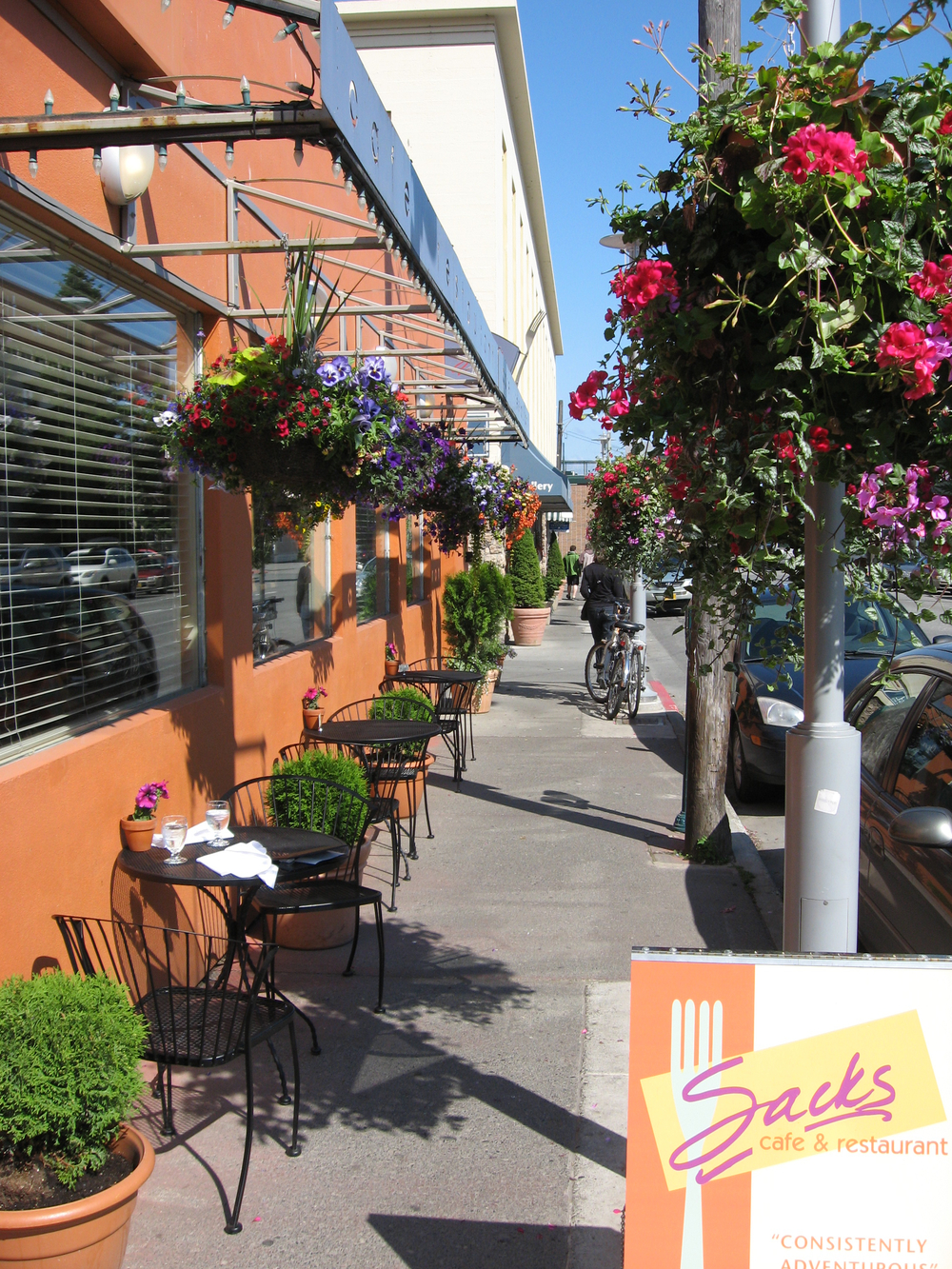 Downtown Anchorage has many great streetscapes with the best hanging baskets I have ever scene.