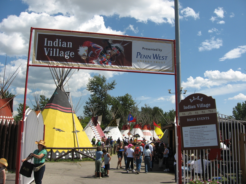 "The Indian Village has been an important part of Stampede since the very beginning. And, I am told that they like the name ""Indian"" village and don't want it changed to aboriginal or first nation. A new location for the village is in the works along the Elbow River as part of the new Stampede Park master plan for the 21st century."