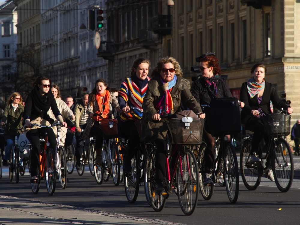 "ound this image on the Copenhagenize Design Co. website. While for many ""bikes for transportation"" advocates this is the vision i.e. roads crowded with people using their bikes for everyday activities.  However, I am not sure this would be attractive to many of the Calgarians who are currently reluctant to use roads and pathways as it is too crowded.  It would be interesting to show them this picture and say would you be wiling to ride on this bike lane.   I t will take a huge paradigm shift in the thinking of Calgarians to move from recreational to transportational cycling.  The creation of new bike lanes to link the current pathway system to key destinations is a great place to start.   But we need to be realistic in our expectations of the numbers who will be prepared to make the change and this is not going to happen overnight."