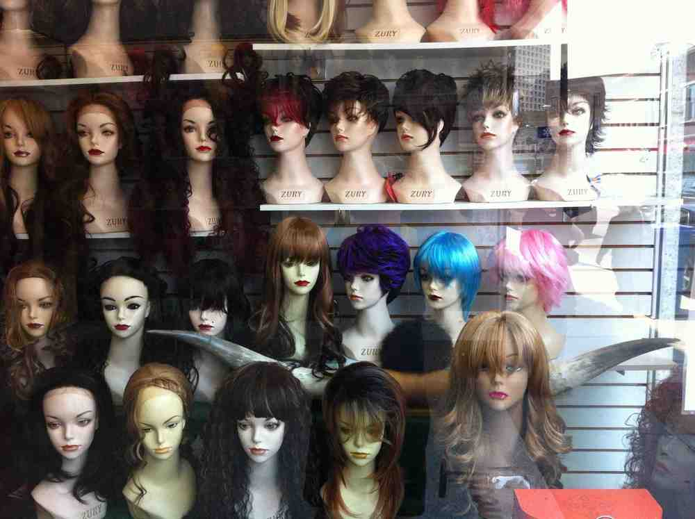 I stared at these wigs for a long time wondering if they were worth a picture. Then I notice the Texas Long Horn and smiled.  Another find in Bucktown!