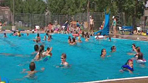 The Bow View pool is one of many family amenities in Calgary's City Centre.
