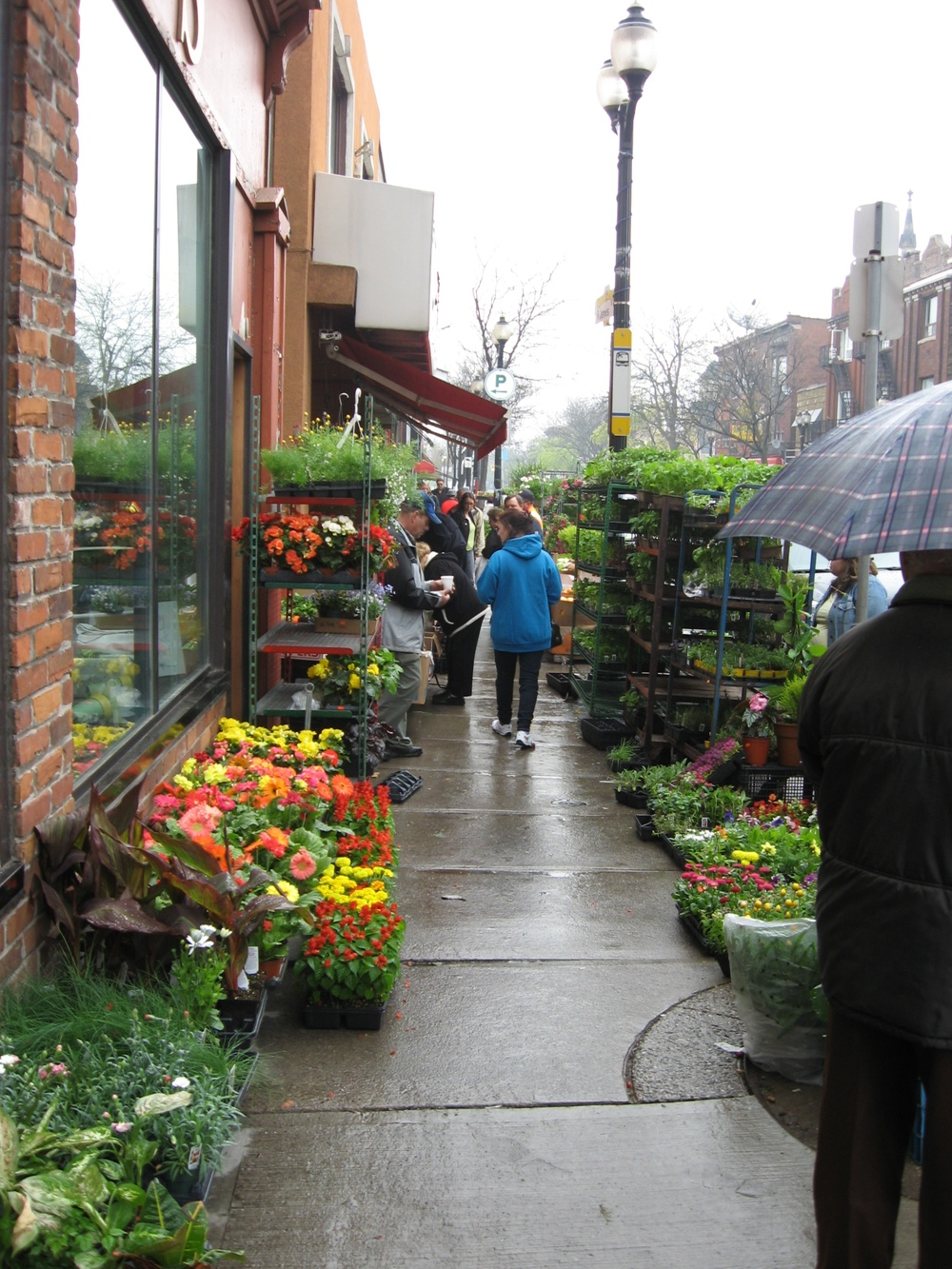 This could be in Portugal, but it is downtown Hamilton's James Street North.  This is just blocks away from Hamilton's downtown Farmers' Market one of the largest and oldest in Canada.