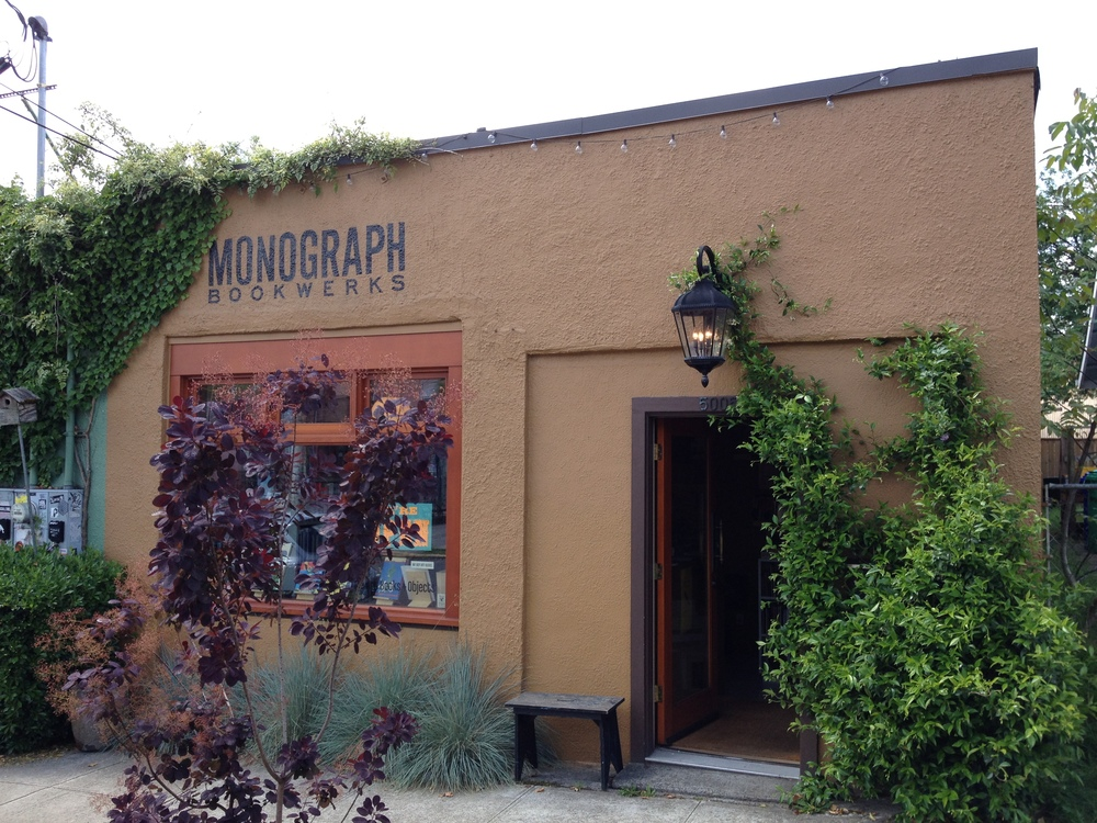 MONOGRAPH Bookwerks is across the street from Little Axe and it just as quirky. Open very limited hours, so best to check before you go.  Lots of art and architecture books, art and artifacts.