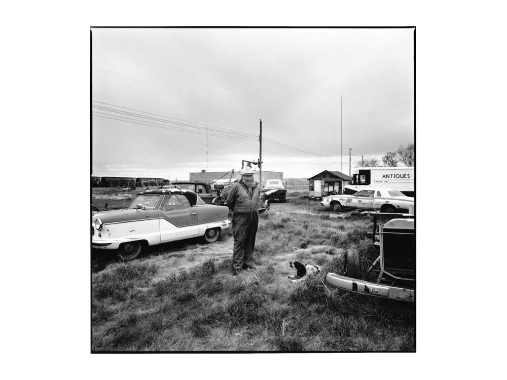 Pat McKendry and Daisy, Irvine, Alberta, 1988