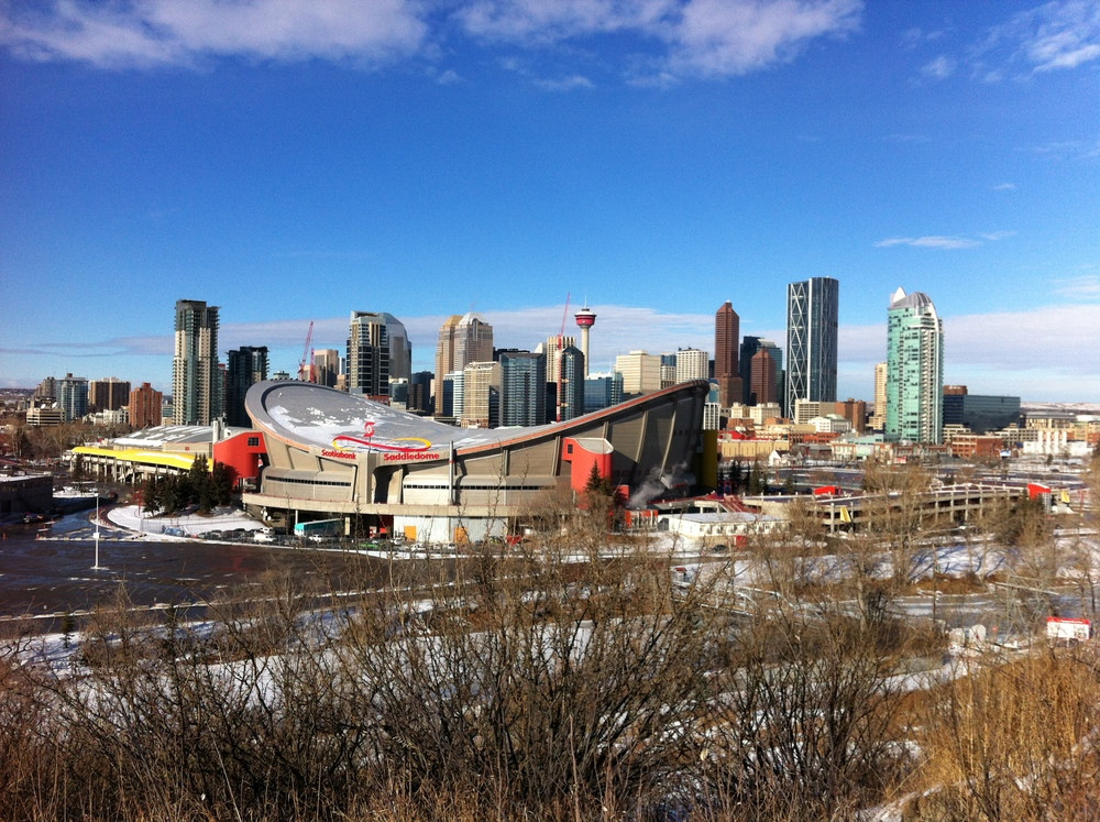 The Saddledome should definitely be on the list as it unique shape and location create a postcard view of both our rivers valley and the skyline.  It will be interesting to see what happens to when a new arena is built.