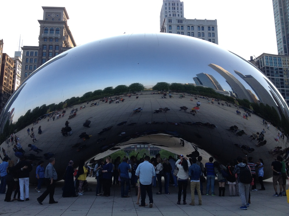 "Kapoor's ""Cloud Gate"" aka The Bean also attracts thousands of people to come downtown every day and is a major tourist attraction."