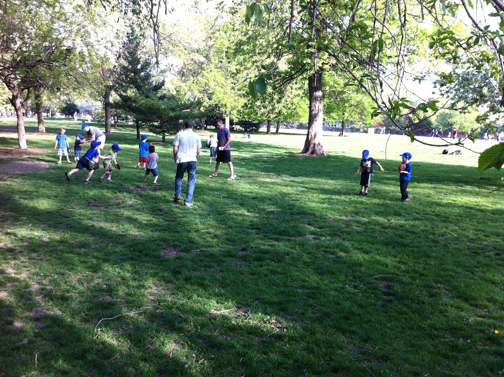Most backyards aren't big enough for a pick up game of baseball...Lincoln Park is perfect...